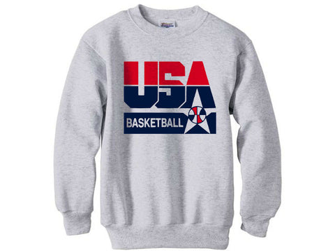 1992 Nba Olympic Dream Team usa logo sweatshirt shirt - Ash Grey