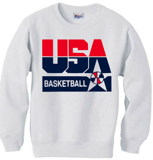 1992 dream team basketball logo sweatshirt white