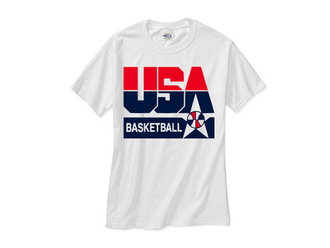 1992 Nba Olympic DreamTeam logo white tee shirt