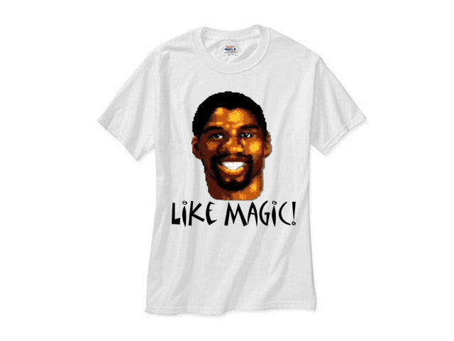 Magic Johnson Like Magic 8 Bit shirt - white tee