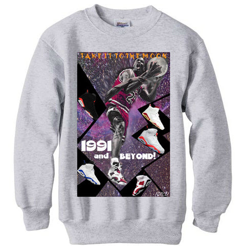JORDAN 6 VI RETRO MOON sweatshirt