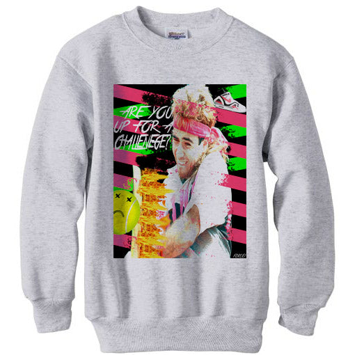 Andre Agassi Are You Up For A Challenge Sweatshirt - Ash Grey