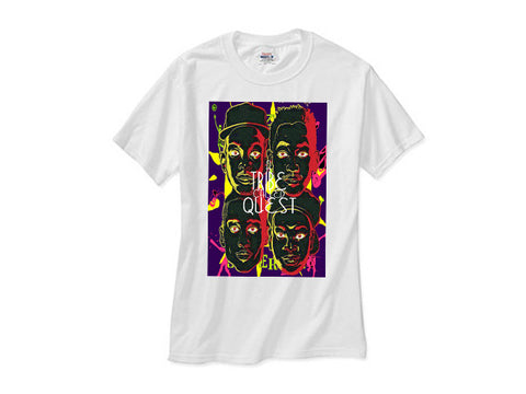 A Tribe Called Quest atcq 4 faces white tee shirt