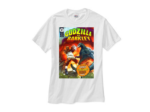 Charles Barkley vs Godzilla white tee shirt