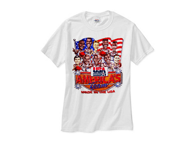 1992 NBA OLYMPIC DREAM TEAM PRIDE white tee