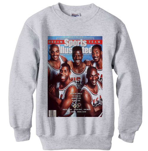 1992 Nba Olympic Dream Team Starting 5 sweatshirt shirt -Ash Grey