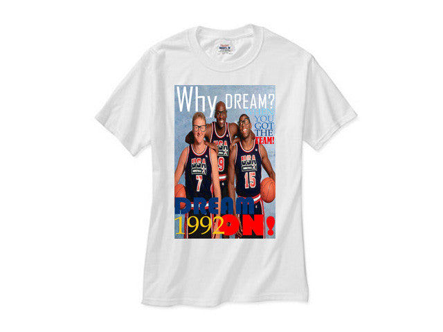 1992 Nba Olympic Dream Team Elite 3 white tee shirt