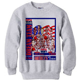 1992 Nba Olympic Dream Team Caricature Cartoon Pride ash grey sweatshirt
