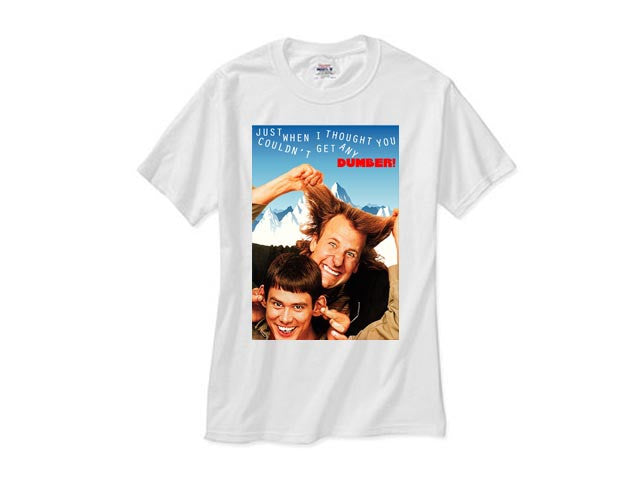 DUMB AND DUMBER 1994 white tee