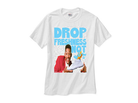 Fresh Prince Retro Jordan 11 xi  Legend Blue Columbia shirt white tee