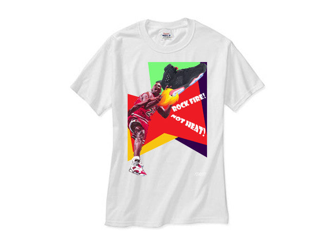 Jordan 6 Retro Black Infrared retro white tee shirt