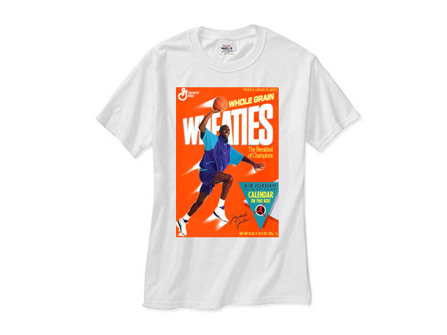 Michael Jordan Grape 5 Fresh Prince Wheaties shirt white tee