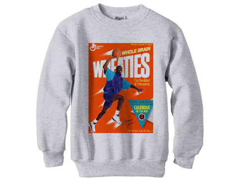 0f2e160d52c712 Michael Jordan Grape 5 Fresh Prince Wheaties shirt sweatshirt - Ash Grey