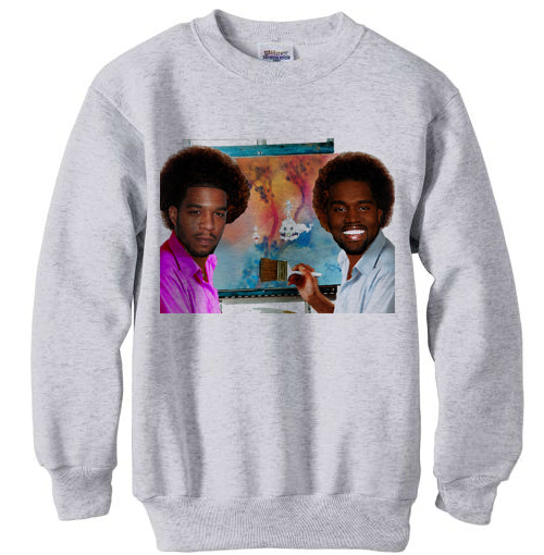 Kanye West and Kid Cudi Kids See Ghosts Portrait sweatshirt - Ash Grey