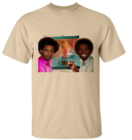 Kanye West and Kid Cudi Kids See Ghosts Merch Portrait tee tshirt - Beige Tan