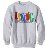 Living Single Logo sweatshirt Ash Grey
