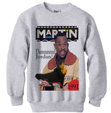 Martin Jordan 6 Black Infrared sweatshirt sweater shirt - Ash Grey
