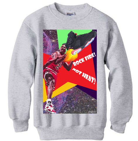 JORDAN 6 VI BLACK INFRARED RETRO sweatshirt - GREY