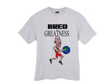 Jordan 4 Bred Red Black Cement Greatness shirt tee tshirt - Ash Grey