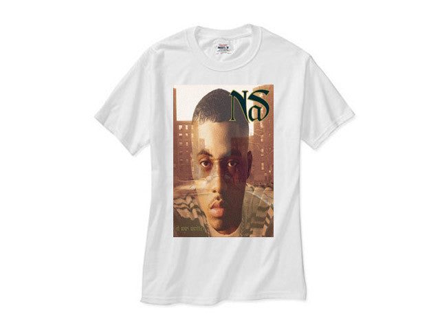 Nas It was Written white tee