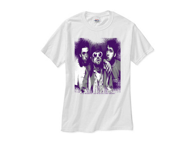 Nirvana shirt white tee