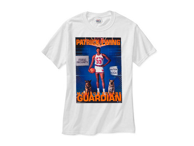 Patrick Ewing New York Knicks shirt white tee