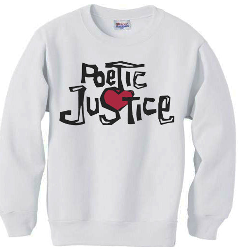POETIC JUSTICE sweatshirt - WHITE