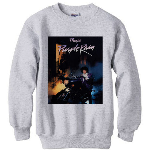 Prince Purple Rain ash grey sweatshirt
