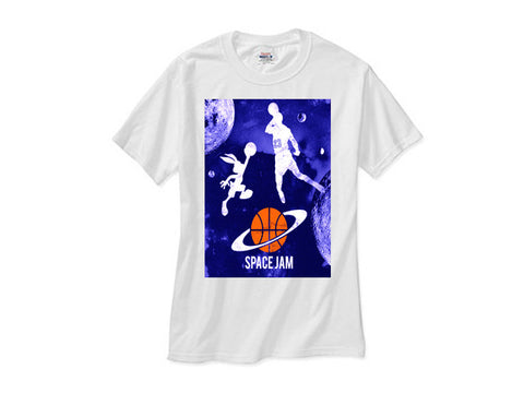 Space Jam Galaxy shirt white tee