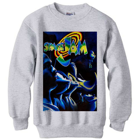 Space Jam Line Up shirt sweatshirt - ash grey
