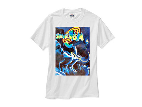 Space Jam Line Up shirt white tee
