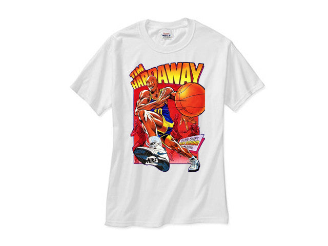 Tim Hardaway shirt Caricature Cartoon white tee
