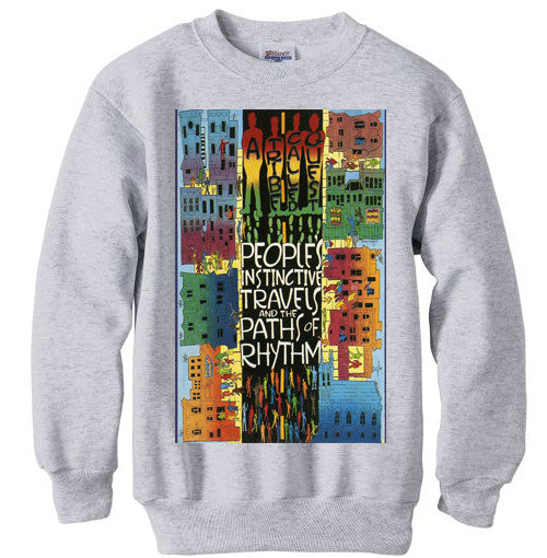 Tribe Called Quest atcq Instincts shirt sweatshirt - Ash Grey