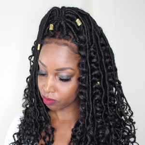 New Bohemian Faux Locs Lace Wig!