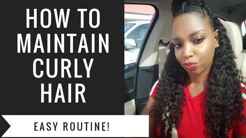 How to Maintain Curly Hair, EASY routine!