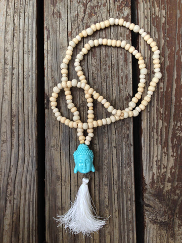 Buddha Beaded Tassel Necklace