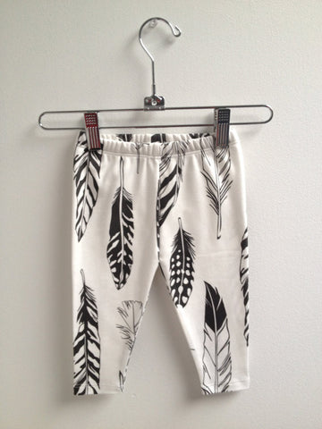 Organic Feather Baby Leggings