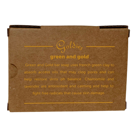 Green and Gold Bar Soap
