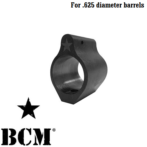 "Bravo Company Mfg. BCM Low Profile Set Screw Style Steel Gas Block for .625"" Barrel AR15 / M4 / M16"