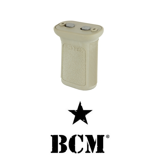 "Bravo Company Mfg. BCM Gunfighter Vertical Forward Grip Foregrip Mod 3 KeyMod OAL 2.75"" Flat Dark Earth BCM-VG-KM-MOD-3-FDE"