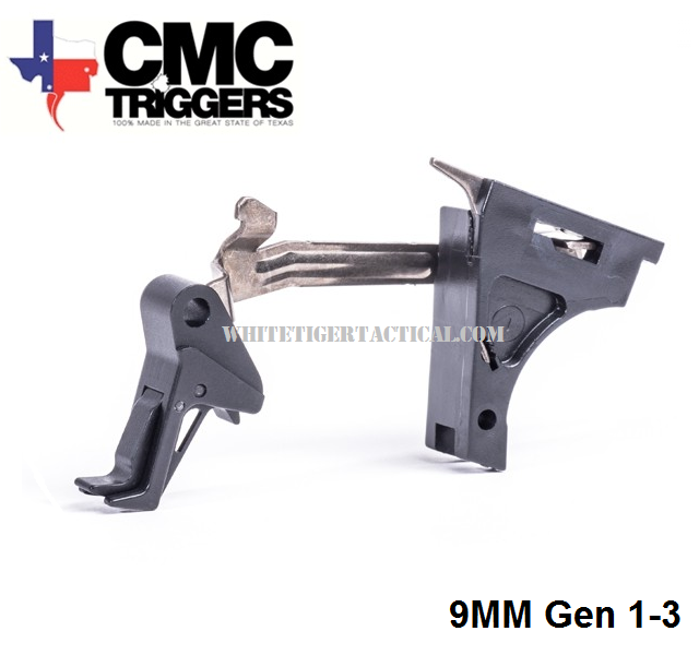 CMC Triggers 71501 Tactical Drop In Signature Flat Trigger for Glock 9mm Gen 1-3