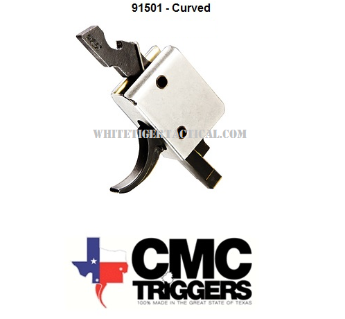 CMC Triggers 91501 Tactical Drop In 3.5lb Single Stage Curved Trigger AR15 / M4 / AR-10 / SR25 / LR-308