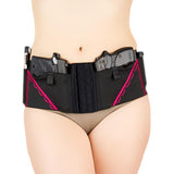Classic Hip Hugger Holster in Hot Pink on Black by Can Can Concealment (Size S M L XL)