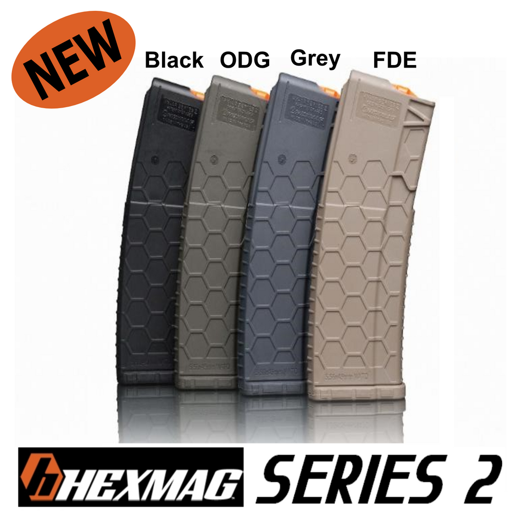 Hexmag (Series 2) BLACK AR-15 30 Round Mag Magazine .223 5.56 300 AAC 458 SOCOM 50 Beowulf HX30-AR15S2-BLK