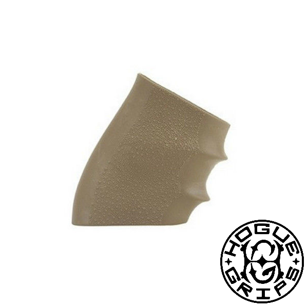 Hogue Handall Universal Slip-On Rubber Grip Sleeve (fits Glock, Ruger, and more) Desert Tan 17003