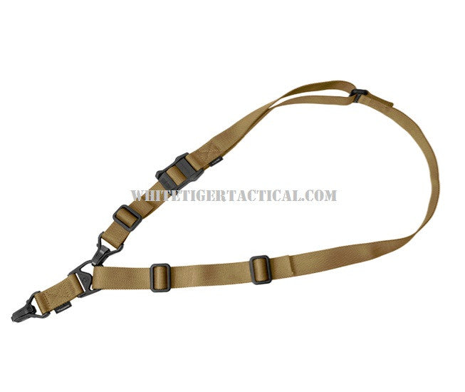 Magpul MAG514-COY MS3 Gen 2 Multi-Mission Sling System Single Point / 2 Point Nylon Coyote Brown MAG514