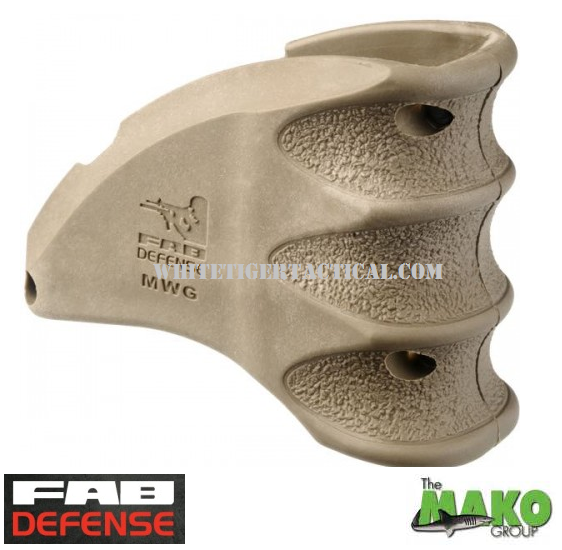 Mako FAB Defense MWG Magazine Mag Well Grip AR15 / M4 / M16 - FDE Flat Dark Earth Tan