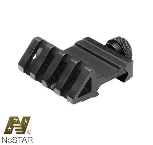 NcSTAR MPR45 45 Degree Offset Picatinny Rail Mount Ambi Left or Right Aluminum Black