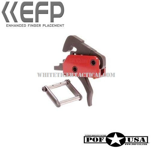 POF USA 4lb Single Stage Drop In Trigger System w/ EFP Enhanced Finger Placement (includes KNS Anti-Walk Pins) 00516 AR15 / M4 / AR-10 / SR25
