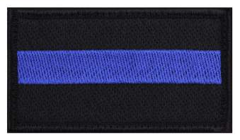 "Thin Blue Line Police Velcro Morale Patch 1 7/8"" x 3 3/8"""